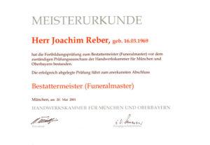 Reber Meisterbrief